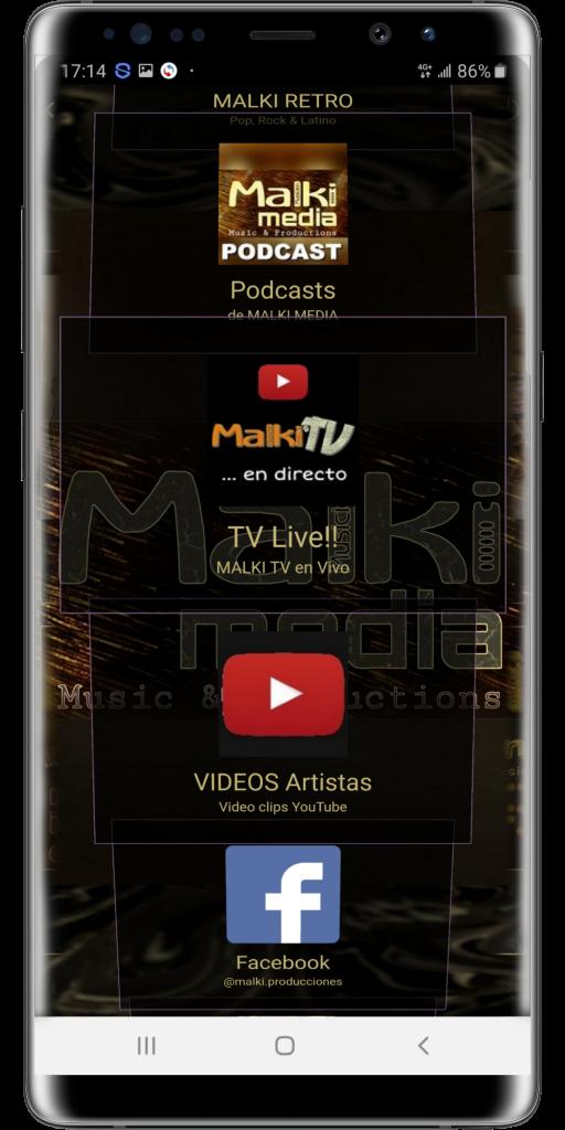 Aplicación móvil MALKI MEDIA. Escuche nuestras radios reunidas en una sola aplicación móvil, disponible en la PlayStore Google Play